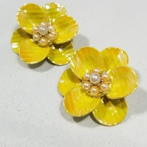 Vintage custom earrings enamel